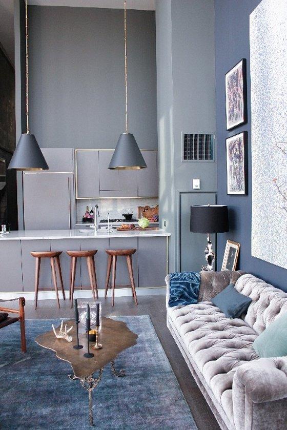 Фотография: Гостиная в стиле Лофт, Эклектика, Декор интерьера, Дизайн интерьера, Цвет в интерьере – фото на INMYROOM
