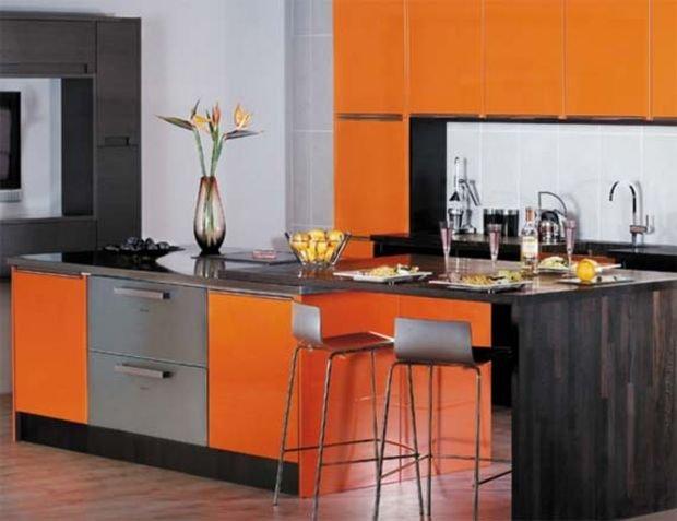 Фотография: Гостиная в стиле Скандинавский, Кухня и столовая, Декор интерьера, Квартира, Дом, Декор, Оранжевый – фото на INMYROOM