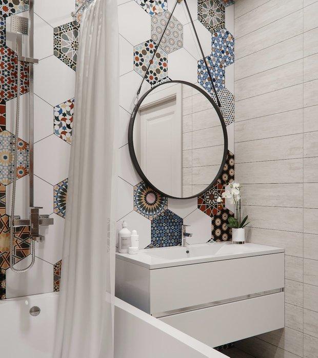Фотография: Ванная в стиле Скандинавский, Современный, Советы, Гид, отделка стен в ванной, интересная плитка в ванной, плитка в ванной – фото на INMYROOM