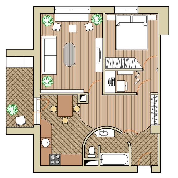 Фотография: Планировки в стиле , Квартира, Дома и квартиры, Перепланировка, II-67 – фото на INMYROOM