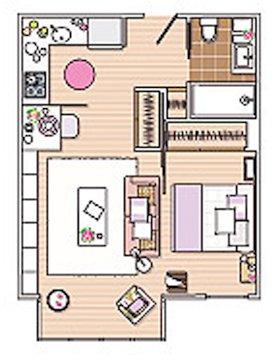 Фотография: Архитектура в стиле , Малогабаритная квартира, Квартира, Дома и квартиры – фото на INMYROOM