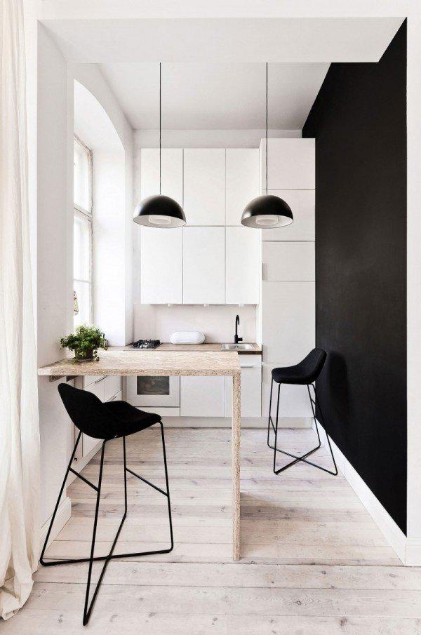 Фотография: Кухня и столовая в стиле Лофт, Малогабаритная квартира, Квартира, Дома и квартиры, Минимализм – фото на INMYROOM