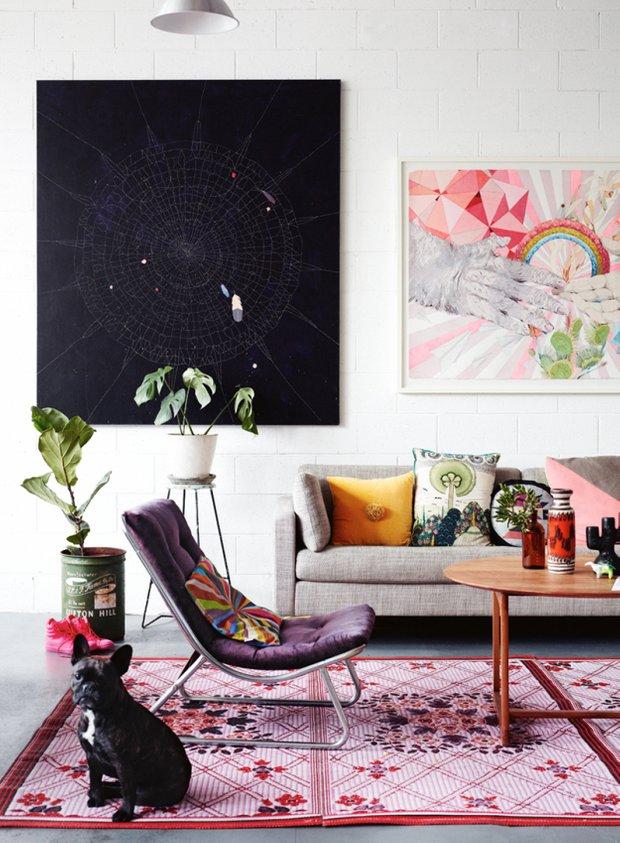 Фотография: Гостиная в стиле Эклектика, Скандинавский, Декор интерьера, Текстиль – фото на INMYROOM