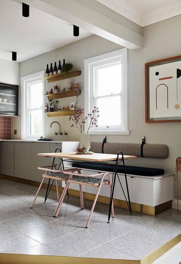 Фотография: Кухня и столовая в стиле Скандинавский, Декор интерьера, Квартира, Серый, Розовый, Сидней – фото на INMYROOM