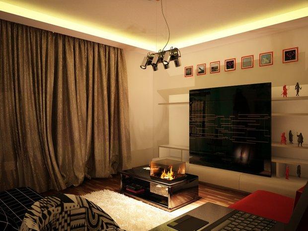 Фотография: Гостиная в стиле Современный, Малогабаритная квартира, Квартира, Дома и квартиры, IKEA, Ремонт, П-111М – фото на INMYROOM