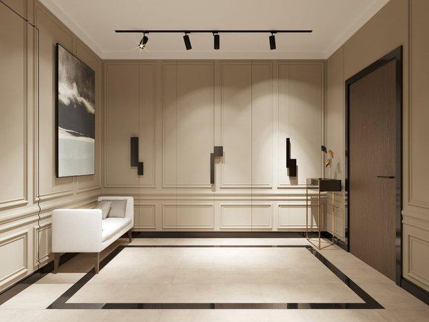 Фотография: Прихожая в стиле Современный, Советы, Стеновые панели, Встроенные шкафы, Kronospan, как скрыть шкафы – фото на INMYROOM
