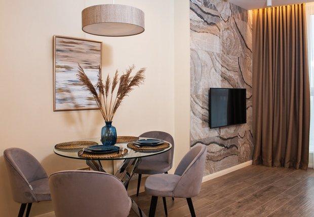 Фотография: Кухня и столовая в стиле Современный, Декор интерьера, Декоративная штукатурка, декор стен, Loggia, микроцемент – фото на INMYROOM