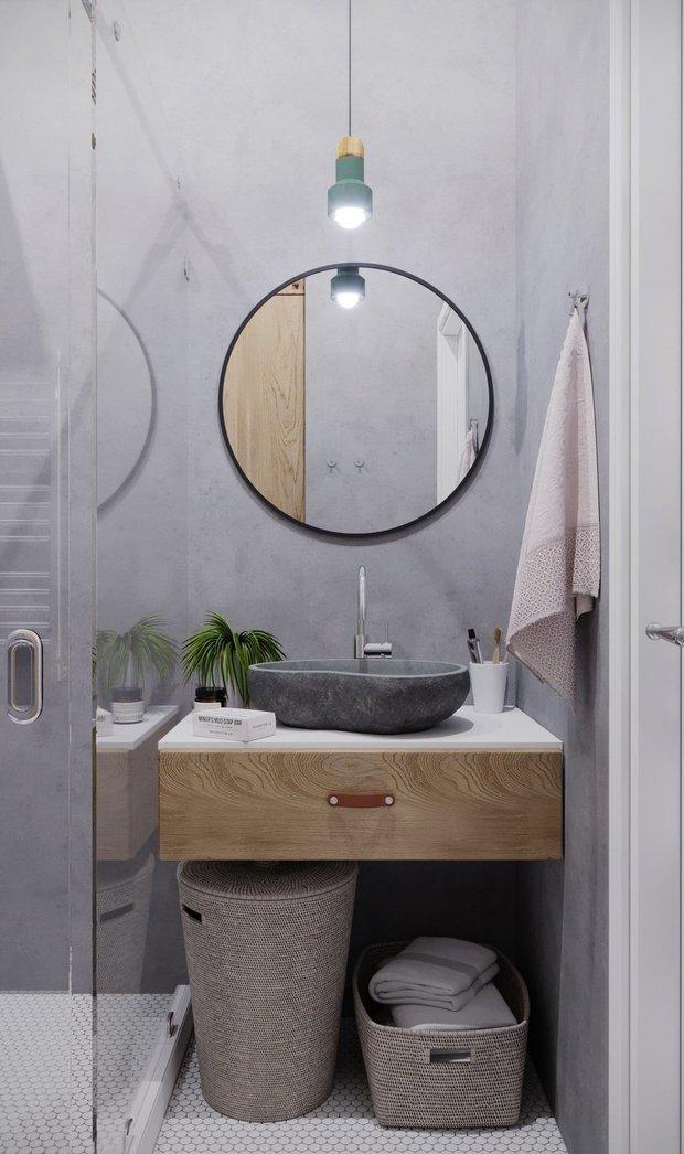 Фотография: Ванная в стиле Эко, Декор интерьера – фото на INMYROOM