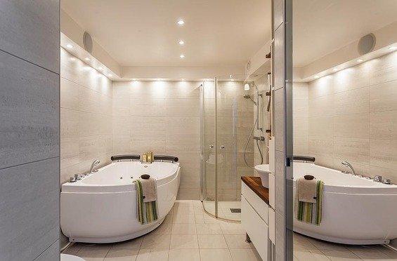 Фотография: Ванная в стиле Современный, Скандинавский, Квартира, Дома и квартиры – фото на INMYROOM