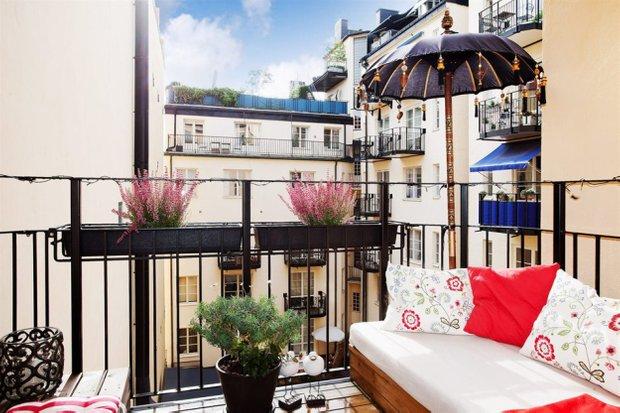 Фотография: Балкон, Терраса в стиле Прованс и Кантри, Скандинавский, Малогабаритная квартира, Квартира, Дома и квартиры, Стокгольм – фото на INMYROOM