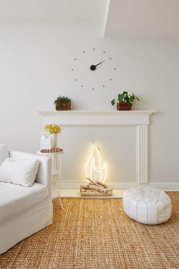Фотография: Гостиная в стиле Скандинавский, Декор интерьера, Камин, фальшкамин в интерьере, как сделать декоративный камин – фото на INMYROOM