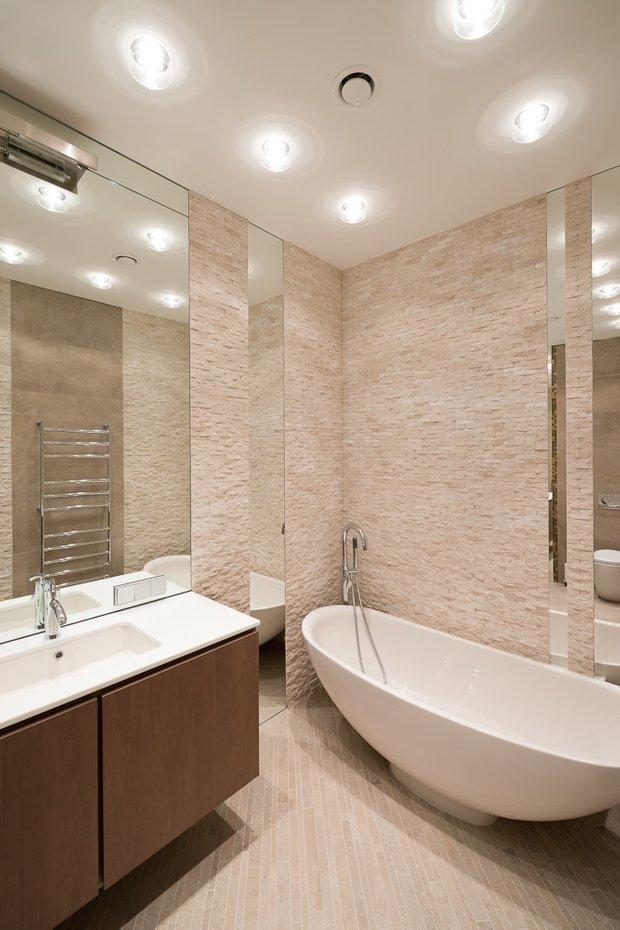 Фотография: Ванная в стиле Минимализм, Классический, Квартира, Проект недели, Москва, Бежевый – фото на INMYROOM