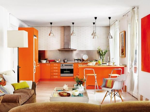 Фотография: Декор в стиле Скандинавский, Кухня и столовая, Декор интерьера, Квартира, Дом, Оранжевый – фото на INMYROOM