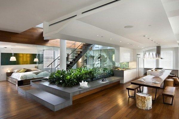 Фотография: Кухня и столовая в стиле Лофт, Квартира, Дома и квартиры, Фитостены – фото на INMYROOM