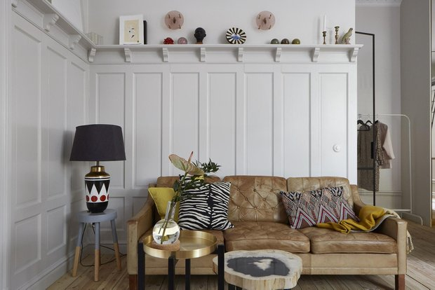 Фотография: Гостиная в стиле Эклектика, Скандинавский, Декор интерьера, Малогабаритная квартира, Квартира, Студия, Швеция, Стокгольм – фото на INMYROOM