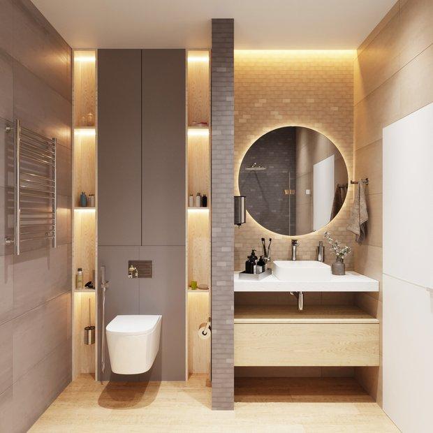 Фотография: Ванная в стиле Современный, Советы, электрика в квартире, ПИК-ремонт, Наталия Горелик – фото на INMYROOM