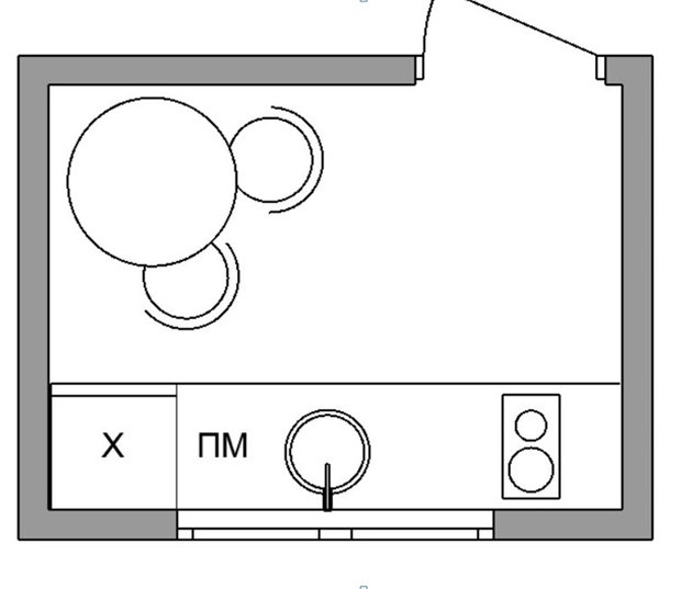 Фотография:  в стиле , Кухня и столовая, Квартира, Перепланировка, брежневка, перепланировка кухни – фото на INMYROOM