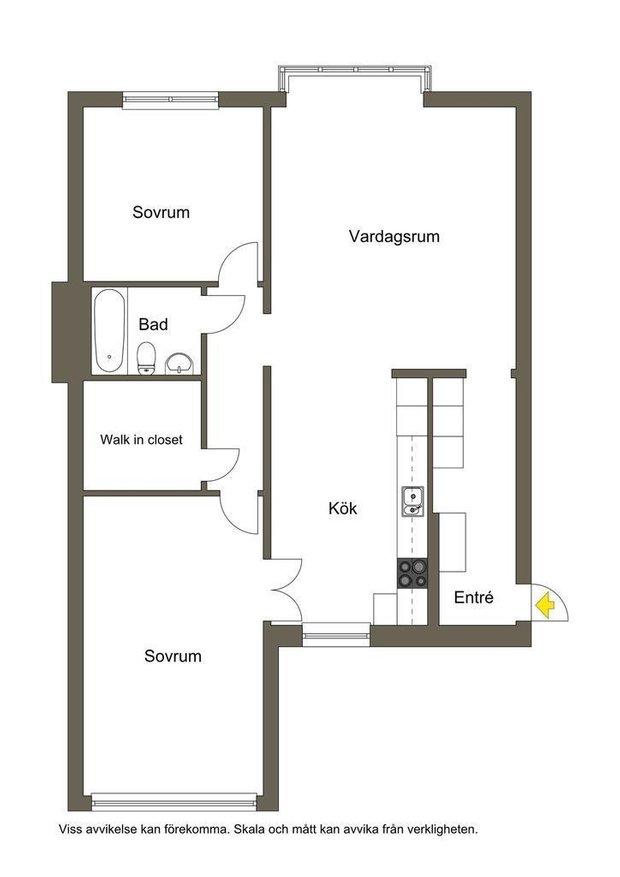 Фотография: Планировки в стиле , Классический, Декор интерьера, Квартира, Швеция, Белый, Красный, Серый, 2 комнаты, Более 90 метров – фото на INMYROOM