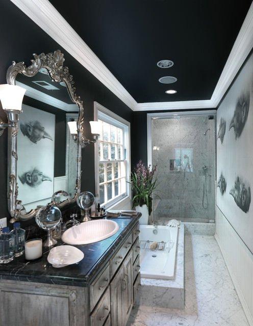 Фотография: Ванная в стиле Эклектика, Декор интерьера, Дизайн интерьера, Цвет в интерьере – фото на INMYROOM