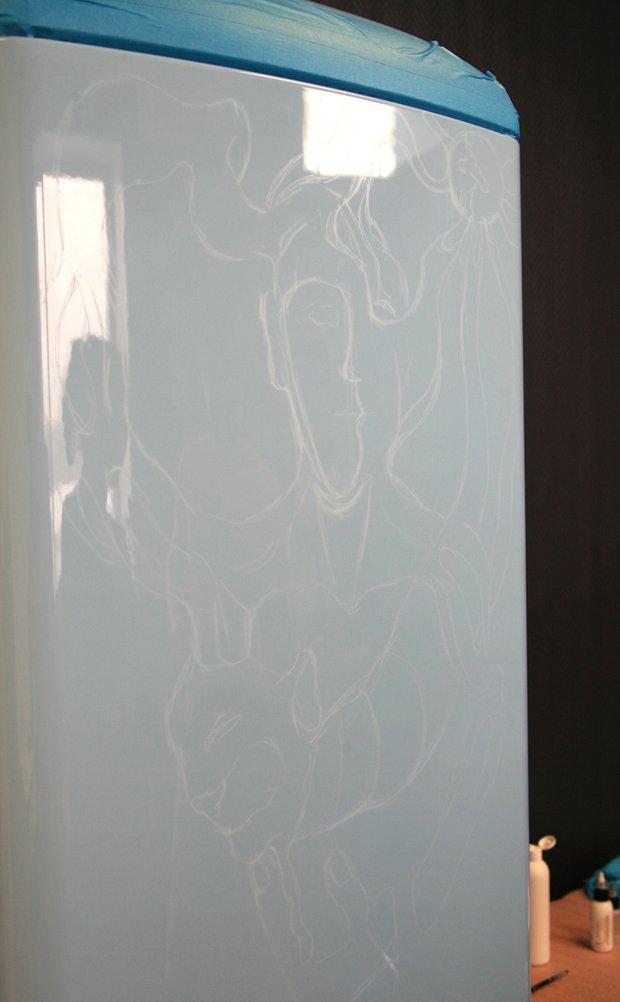 Фотография: Прочее в стиле , Декор интерьера, DIY, Роспись, Холодильник – фото на INMYROOM