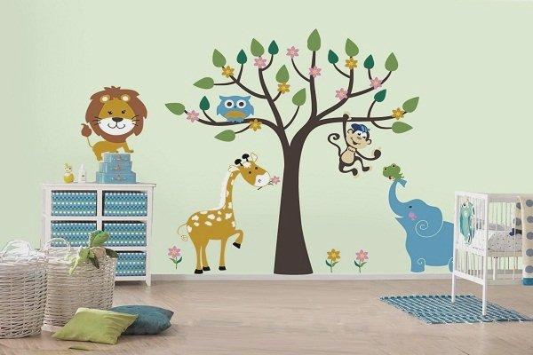Фотография: Детская в стиле Современный, Обои, Переделка, Плитка, Краска, Стеновые панели – фото на INMYROOM
