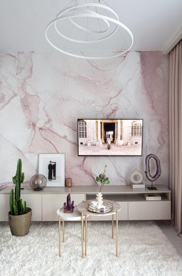 Фотография: Гостиная в стиле Современный, Декор интерьера, Декоративная штукатурка, декор стен, Loggia, микроцемент – фото на INMYROOM