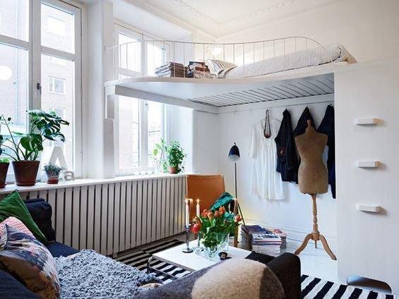 Фотография: Гостиная в стиле Скандинавский, Спальня, Декор интерьера, Интерьер комнат, Хрущевка – фото на INMYROOM