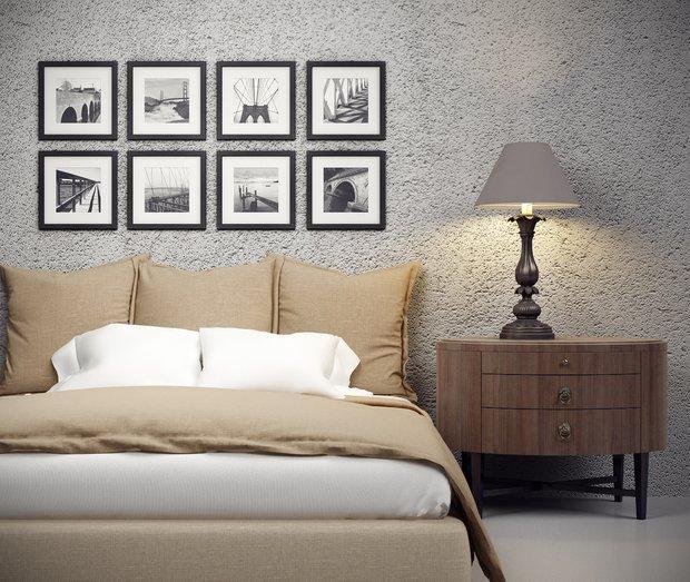 Фотография: Спальня в стиле Классический, Современный, Декор интерьера, Декор дома, Цвет в интерьере, Минимализм, Стены, Картины, Ретро, Модерн – фото на INMYROOM