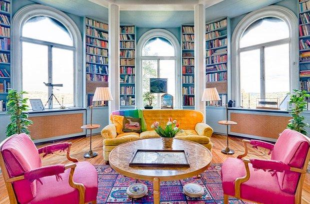 Фотография: Гостиная в стиле Современный, Эклектика, Системы хранения, Библиотека, Домашняя библиотека – фото на INMYROOM
