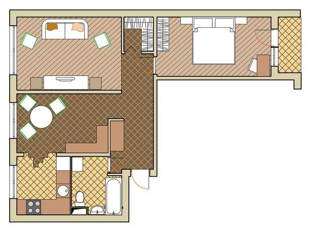 Фотография: Прочее в стиле , Малогабаритная квартира, Квартира, Дома и квартиры, Перепланировка, Переделка, II-49 – фото на INMYROOM
