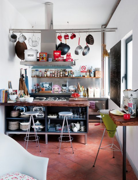 Фотография: Кухня и столовая в стиле Лофт, Скандинавский, Дома и квартиры, Интерьеры звезд, Ретро – фото на INMYROOM