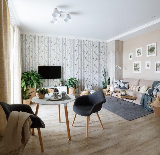 Фотография: Гостиная в стиле Скандинавский, Декор интерьера, OBI, ОБИ, тренды 2020, новый скандинавский стиль – фото на INMYROOM