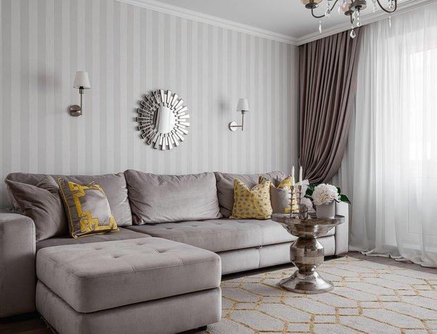 Фотография: Гостиная в стиле Современный, Советы, CoolaginDesign, Артем Кулагин, оформление стен, обои или краска – фото на INMYROOM