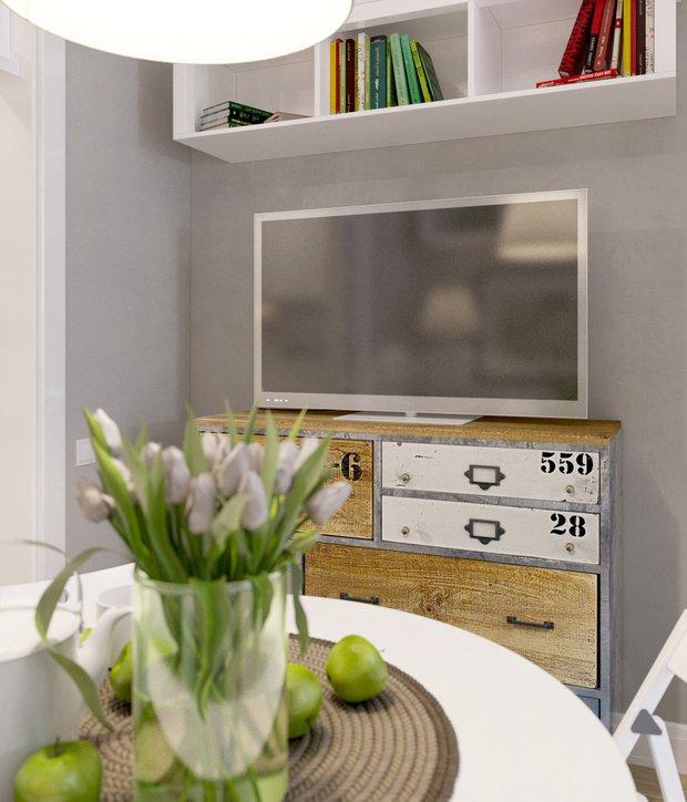 Фотография: Кухня и столовая в стиле Лофт, Скандинавский, Малогабаритная квартира, Квартира, Дома и квартиры, Проект недели – фото на INMYROOM