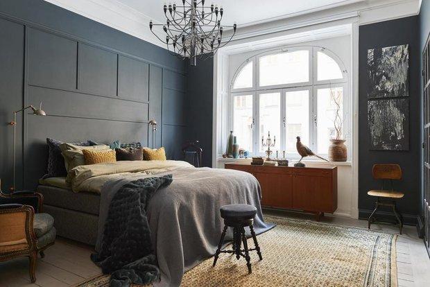 Фотография: Спальня в стиле Прованс и Кантри, Скандинавский, Декор интерьера, Квартира, Швеция, Зеленый, Стокгольм, Серый, Фуксия, ИКЕА – фото на INMYROOM