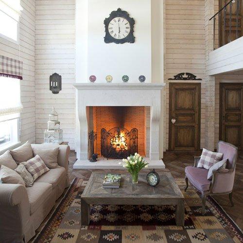 Фотография: Гостиная в стиле Прованс и Кантри, Классический, Современный, Декор интерьера, Часы, Декор дома – фото на INMYROOM
