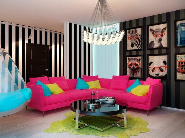 Фотография: Гостиная в стиле Эклектика, Декор интерьера, Декор дома, Обои – фото на INMYROOM