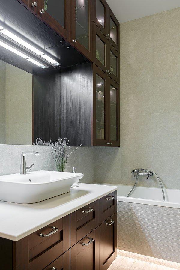 Фотография: Ванная в стиле Современный, Knauf, Ремонт на практике, Geometrium, Александра Сафронова, Кнауф, Rotband – фото на INMYROOM