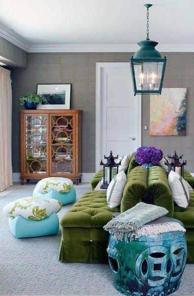 Фотография: Гостиная в стиле Восточный, Декор интерьера, Декор дома, Плетеная мебель – фото на INMYROOM
