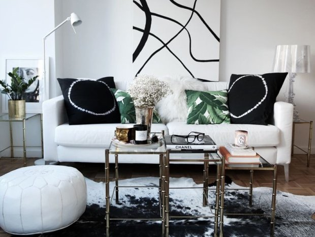 Фотография: Гостиная в стиле Скандинавский, Декор интерьера, Мебель и свет, Журнальный столик – фото на InMyRoom.ru
