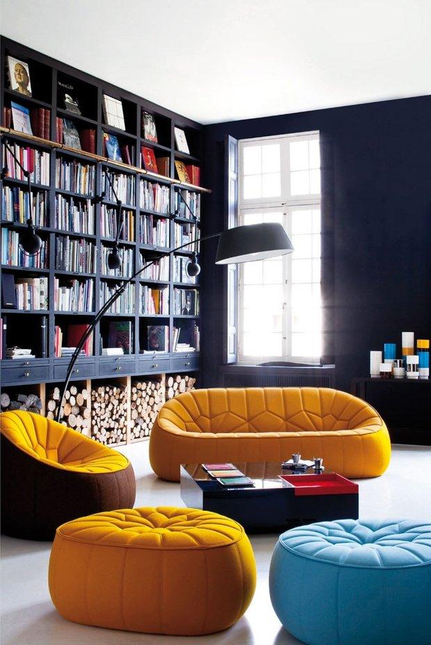 Фотография: Гостиная в стиле Лофт, Декор интерьера, Интерьер комнат, Мебель и свет – фото на INMYROOM