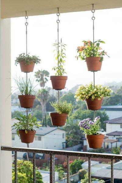 Фотография: Флористика в стиле , Балкон, Прованс и Кантри, Квартира, Декор, Советы, как обустроить открытый балкон, городской балкон, открытый балкон, идеи для открытого балкона – фото на INMYROOM
