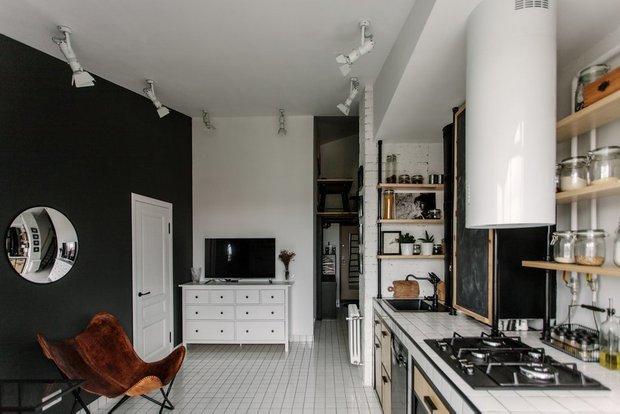 Фотография: Кухня и столовая в стиле Лофт, Гид, ДелоБанк, банк для ип, банк для предпринимателей, квартиры дизайнеров – фото на INMYROOM