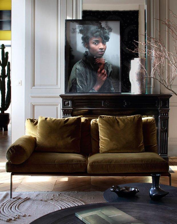 Фотография: Гостиная в стиле Эклектика, Декор интерьера, Франция, Зеленый, Желтый, Коричневый, Лион, Клод Картье – фото на INMYROOM