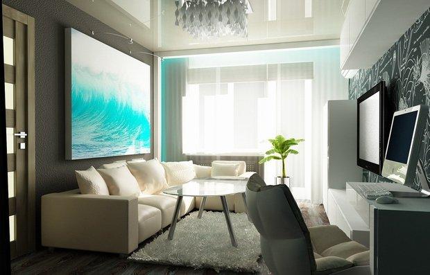 Фотография: Гостиная в стиле Современный, Декор интерьера, Малогабаритная квартира, Квартира, Интерьер комнат, Мебель и свет, Цвет в интерьере, Тема месяца – фото на INMYROOM