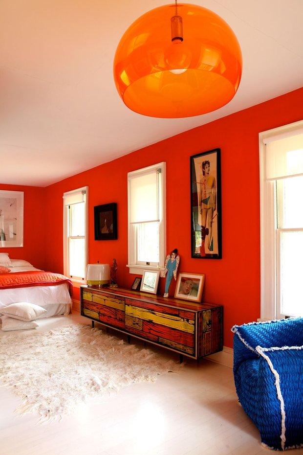 Фотография: Спальня в стиле Прованс и Кантри, Современный, Эклектика, Декор интерьера, Дизайн интерьера, Цвет в интерьере, Оранжевый – фото на INMYROOM
