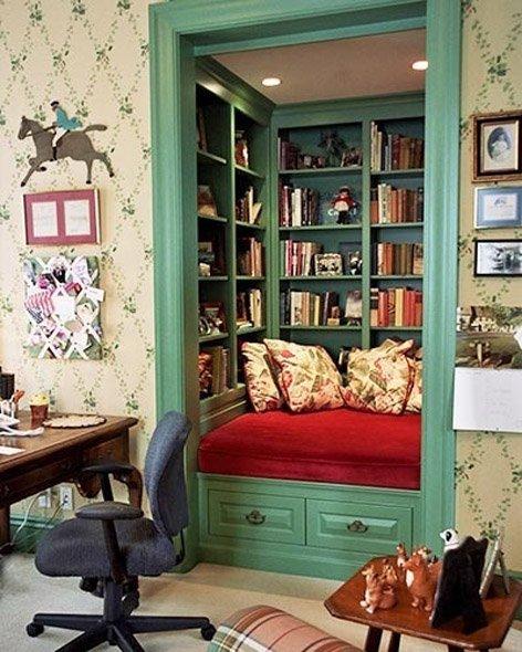 Фотография:  в стиле Прованс и Кантри, Современный, Системы хранения, Библиотека, Домашняя библиотека – фото на INMYROOM