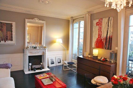 Фотография: Гостиная в стиле Эклектика, Малогабаритная квартира, Квартира, Дома и квартиры, Переделка, Париж – фото на INMYROOM
