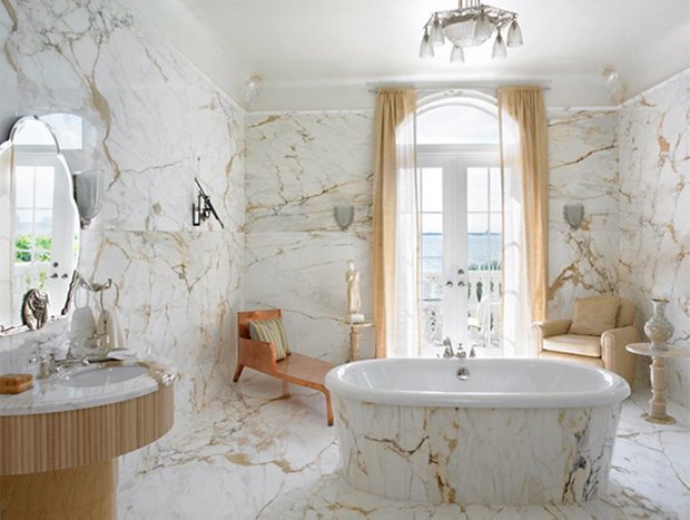 Фотография: Ванная в стиле Классический, Интерьер комнат, Декоративная штукатурка – фото на INMYROOM