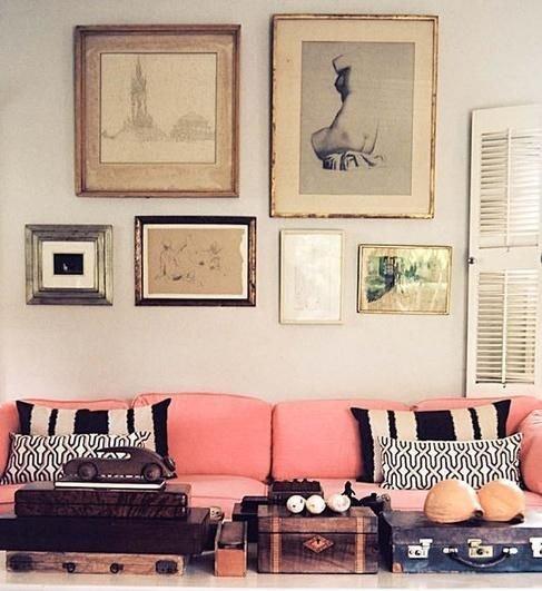 Фотография: Гостиная в стиле Прованс и Кантри, Скандинавский, Декор интерьера, Дизайн интерьера, Цвет в интерьере – фото на INMYROOM